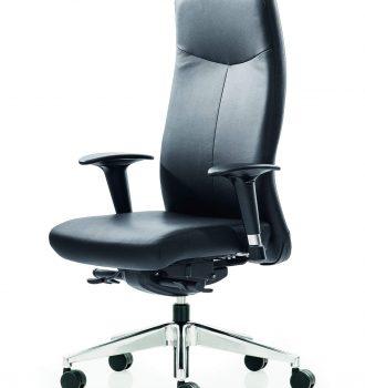 ROVO XL 5910 chef kontorstol m. armlæn, nappa læder